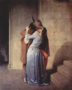 The Kiss. Francesco Hayez. Wiki Commons.