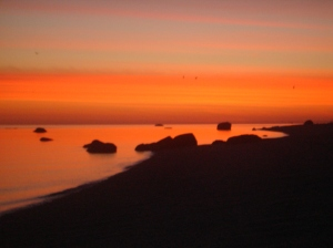 Miller_Place_Beach_at_Dawn;_Red_Sky (1)